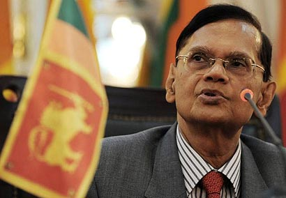 Sri Lanka's External Affairs Minister G.L. Peiris