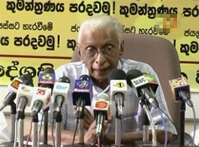 DO NOT ALLOW UN PANEL TO COME HERE, SAYS DR. GUNADASA AMARASEKERA ::.  Latest Sri Lanka News