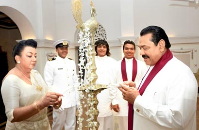 Sri Lanka President New Year Celebration at Temple Trees