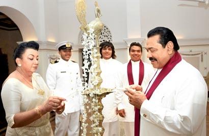 Sri Lanka President New Year Celebration at Temple Trees