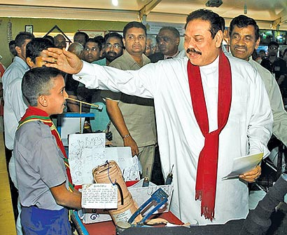 President Mahinda Rajapaksa visited the Deyata Kirula exhibition in Buttala