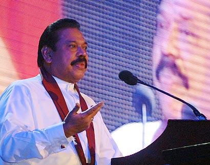 President Mahinda Rajapaksa Speaking