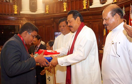 President Rajapaksa Fetes Best O L Students In The Island