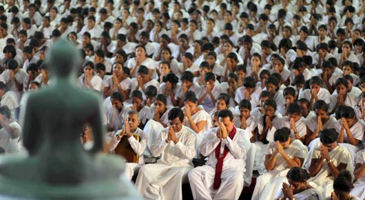 President Rajapaksa Attends The Sri Sambuddhathwa Jayanthi