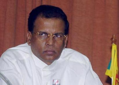 Minister Maithripala Sirisena