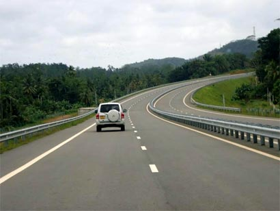 Southern Express way in Sri Lanka