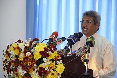 Gotabhaya Rajapaksa at Narahenpita Police Station