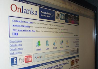 onlanka news screen