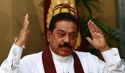 President Mahinda Rajapaksa at Temple Trees