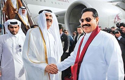 sheikh hamad bin khalifa al thani sri lanka