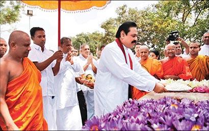 Sri Lanka President Mahinda Rajapaksa in Polonnaruwa