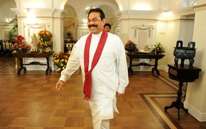 President Mahinda Rajapaksa at Temple trees