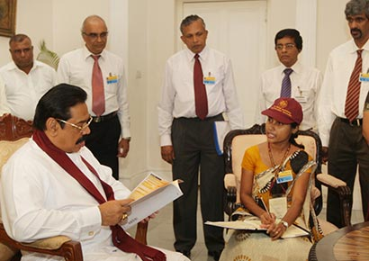 14th population and housing census Sri Lanka launched by President Mahinda Rajapaksa