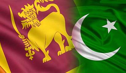 Pakistan and Sri Lanka flags