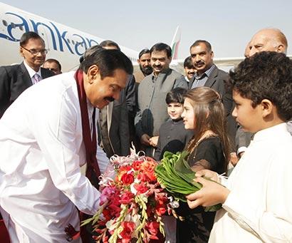 Sri Lanka President arrived in Islamabad Pakistan