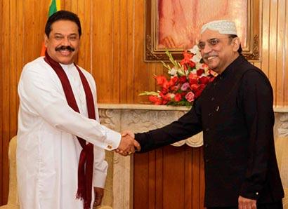 Sri Lanka President Rajapaksa with Pakistan President