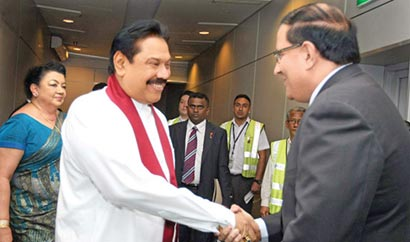 Sri Lanka President with Singapore President