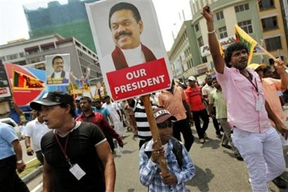 Sri Lanka protest against proposed UNHRC resolution