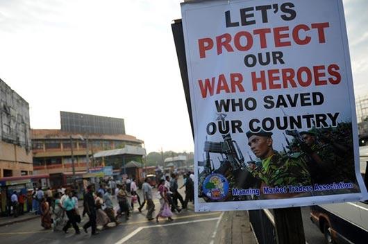 War Hero poster in Colombo Sri Lanka