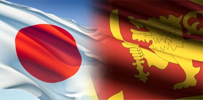Japan, Sri Lanka flags