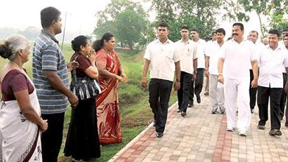 President Mahinda Rajapaksa at Gampaha jogging track