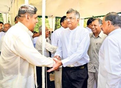Sajith Premadasa with Ranil Wickramasinghe UNP Sri Lanka