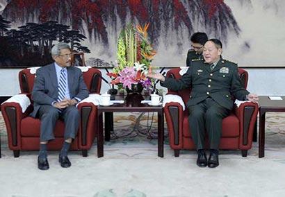 Sri Lanka Defence secretary Gotabhaya Rajapaksa meets China Defense Minister Liang Guanglie