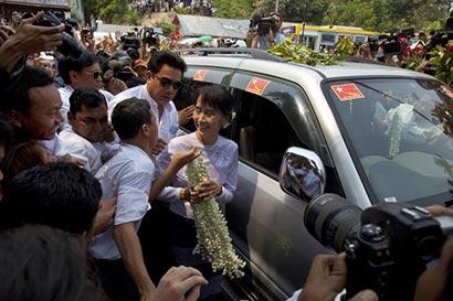 Aung San Suu Kyi wins