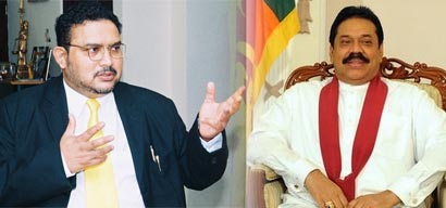 Dr Telli C Rajaratnam and Sri Lanka President Mahinda Rajapaksa