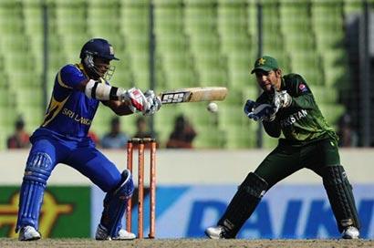 Kumar Sangakkara batting vs Pakistan