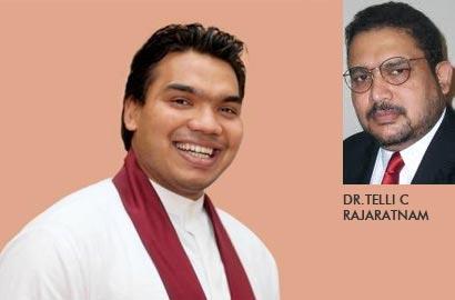 Hon. Namal Rajapaksa with Dr. Telli C Rajaratnam