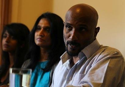 Premakumar Gunarathnam in press conference Australia