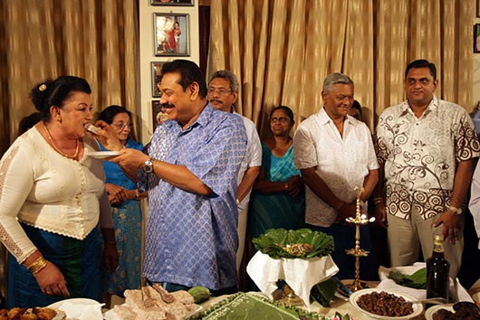 Sri Lanka President family celebrates Sinhala Tamil new year