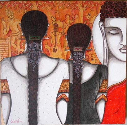 A painting by Kappari Kishan