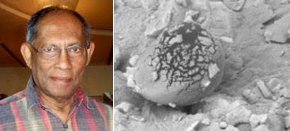 Professor Chandra Wickremasinghe discovered signs of life Mars