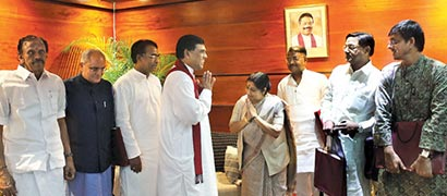 Indian delegation in Colombo