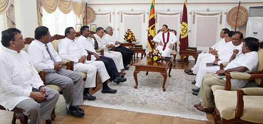 Sri Lanka president and Ranil meeting