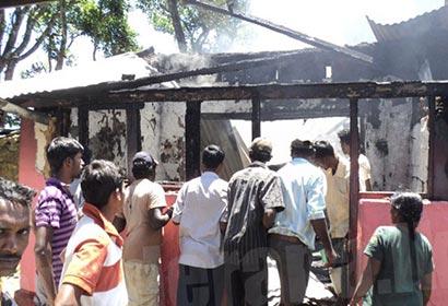 Maskeliya line house fire