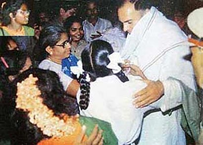 Minutes before assasination Rajiv Gandhi by LTTE