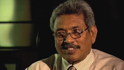Mr. Gotabhaya Rajapaksa with BBC