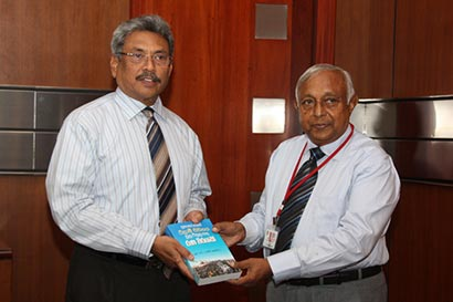 Mr. Gotabhaya Rajapaksa with Mr. J.F. Ranjith Perera