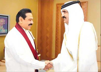 President Mahinda Rajapaksa in Qatar