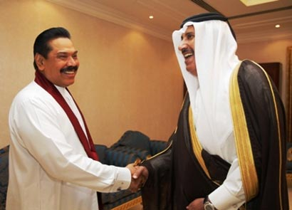 President Mahinda Rajapaksa meets Prime Minister of Qatar