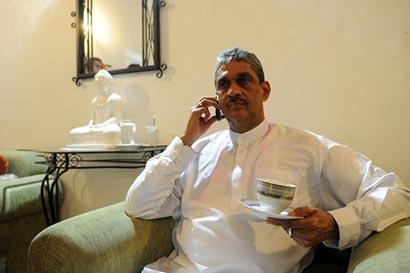 Sarath Fonseka is at home