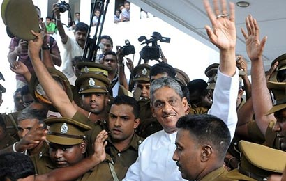 Sarath Fonseka freed
