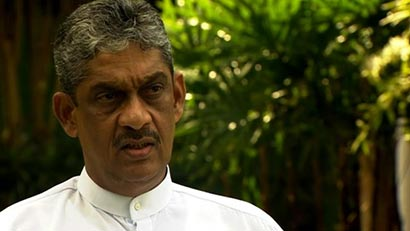 Sarath Fonseka speaking to BBC