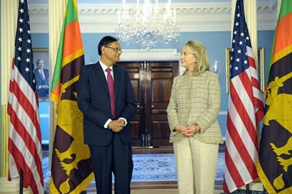 Hilary Clinton with G.L.Peiris
