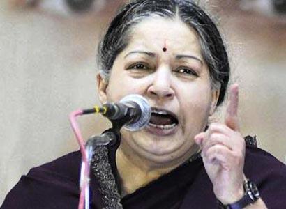 Angry Jayalalitha