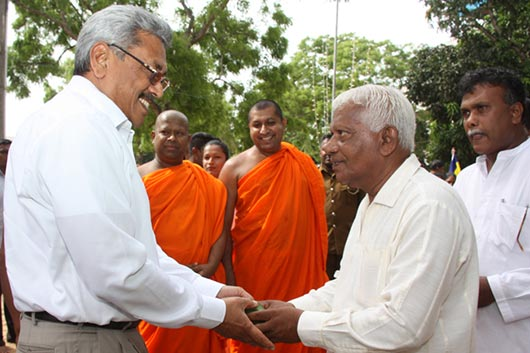 Defence Secretary Gotabhaya Rajapaksa is at Weherahena Poorwarama Raja Mahavihara