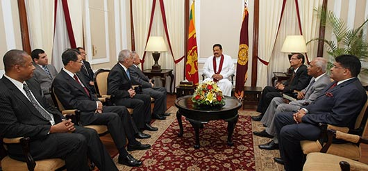 Envoys of four nations present credentials to President Rajapaksa
